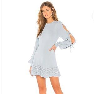 Tularosa Claire Dress in Gray Blue—S